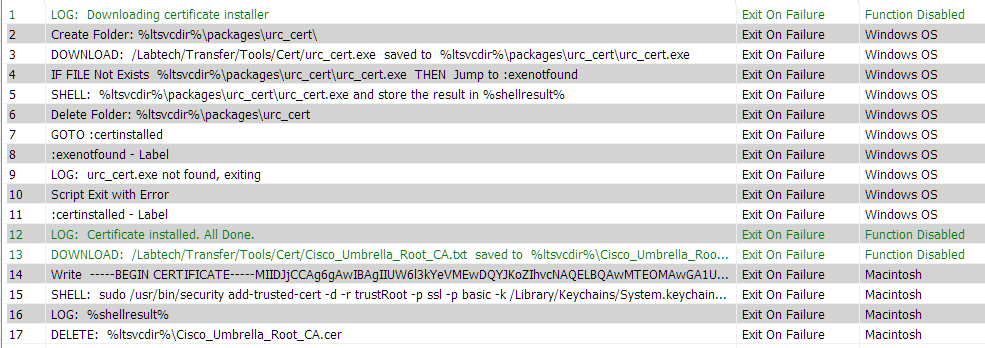 Deploy the Cisco Umbrella Certificate